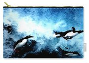 Penquin Joy Play  In Huge Waves Carry-all Pouch