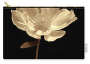 Peony Flower Portrait Sepia Carry-all Pouch