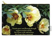 Peony Friends Carry-all Pouch