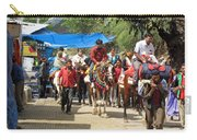 People On Horseback And On Foot Making The Climb To The Vaishno Devi Shrine In India Carry-all Pouch