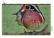 Perched Wood Duck Carry-all Pouch