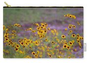 Perky Golden Coreopsis Wildflowers Carry-all Pouch