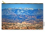 Petrified Dunes And La Sal Mountains Carry-all Pouch