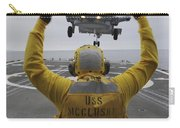 Petty Officer Guides An Sh-60r Sea Hawk Carry-all Pouch