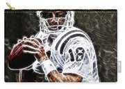 Peyton Manning 18 Carry-all Pouch by Paul Ward