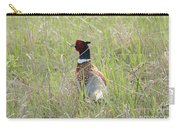 Pheasant In The Grass Carry-all Pouch