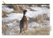 Pheasant In The Winter Carry-all Pouch