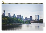 Philadelphia View From The Girard Avenue Bridge Carry-all Pouch by Bill Cannon