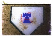 Phillies Home Plate Carry-all Pouch by Bill Cannon