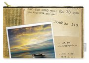 Photo Of Boat On The Sea With Bible Verse Carry-all Pouch