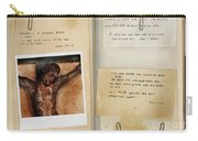 Photo Of Crucifix With Bible Verses. Carry-all Pouch