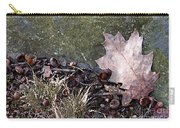 Photo Watercolour Leaf Against Rock Carry-all Pouch