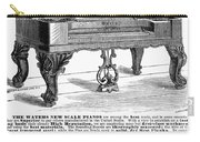 Piano Advertisement, 1874 Carry-all Pouch