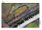 Piano Aqua Wall - Cropped Carry-all Pouch by Anita Burgermeister