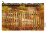 Picket Fence And Cottage Carry-all Pouch