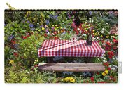 Picnic Table Among The Flowers Carry-all Pouch