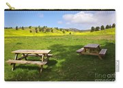 Picnic Tables Carry-all Pouch by Carlos Caetano