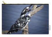 Pied Kingfisher Eating Carry-all Pouch