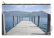 Pier And Snow-capped Mountain Carry-all Pouch