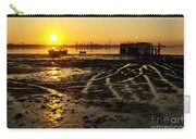 Pier At Sunset Carry-all Pouch by Carlos Caetano