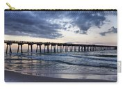 Pier In The Evening Carry-all Pouch by Sandy Keeton