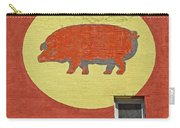 Pig On A Wall Carry-all Pouch