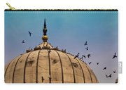 Pigeons Around Dome Of The Jama Masjid In Delhi In India Carry-all Pouch