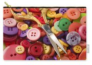 Pile Of Buttons With Scissors  Carry-all Pouch by Garry Gay