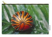 Pill Millipede Glomeris Sp Rolled Carry-all Pouch by Cyril Ruoso