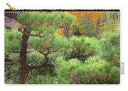 Pine And Autumn Colors In A Japanese Garden II Carry-all Pouch