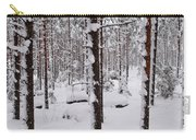 Pine Forest In January Carry-all Pouch