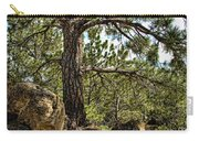 Pine Tree And Rocks Carry-all Pouch