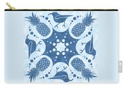 Pineapple And IIwi Hawaiian Quilt Block Carry-all Pouch