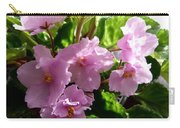 Pink African Violets Carry-all Pouch