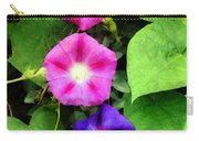 Pink And Purple Morning Glories Carry-all Pouch