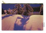 Pink And Purple Sunrise Shadows Of Snow Carry-all Pouch