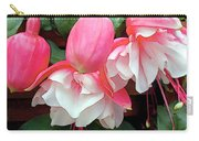 Pink And White Ruffled Fuschias Carry-all Pouch