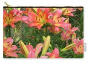 Pink And Yellow Daylilies Carry-all Pouch