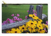 Pink And Yellow Flowers Carry-all Pouch