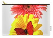 Pink And Yellow Mums Carry-all Pouch