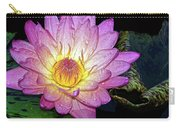 Pink And Yellow Waterlily Carry-all Pouch