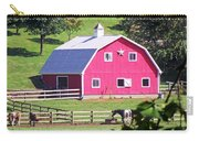 Pink Barn In The Summer Carry-all Pouch