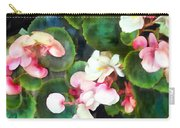 Pink Begonias Carry-all Pouch