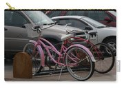 Pink Bicycle Carry-all Pouch