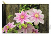 Pink Climatis Flower Carry-all Pouch