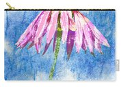 Pink Coneflower On Blue Carry-all Pouch