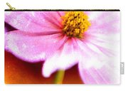 Pink Cosmos On Orange Carry-all Pouch