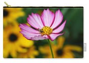 Pink Cosmos Picotee And Bee Carry-all Pouch
