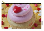 Pink Cupcake With Candy Hearts Carry-all Pouch