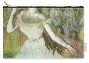 Pink Dancer  Carry-all Pouch by Edgar Degas